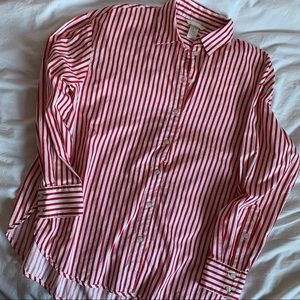 red H&M blouse